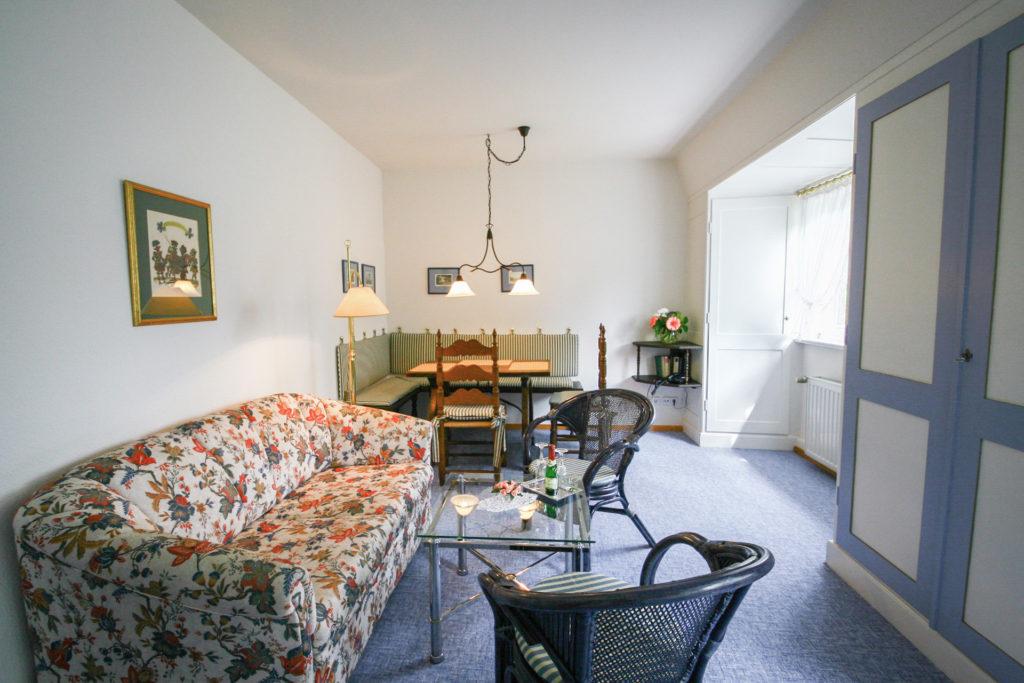 Ferienwohnung Parkblick Wohnzimmer