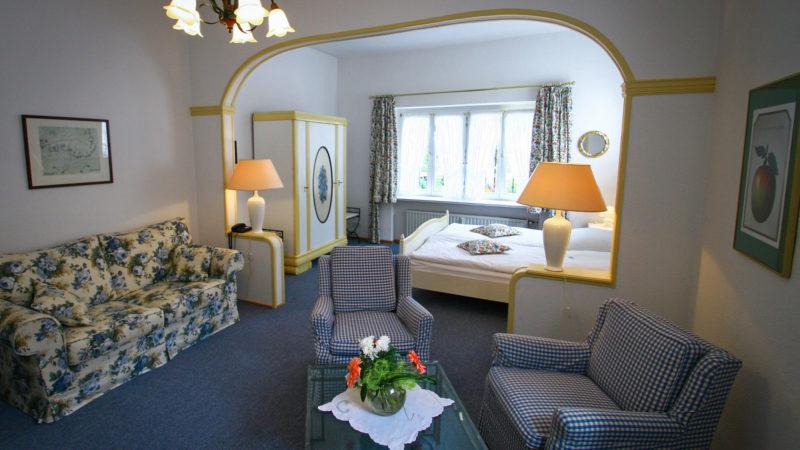 Ferienwohnung Saale Wohnzimmer